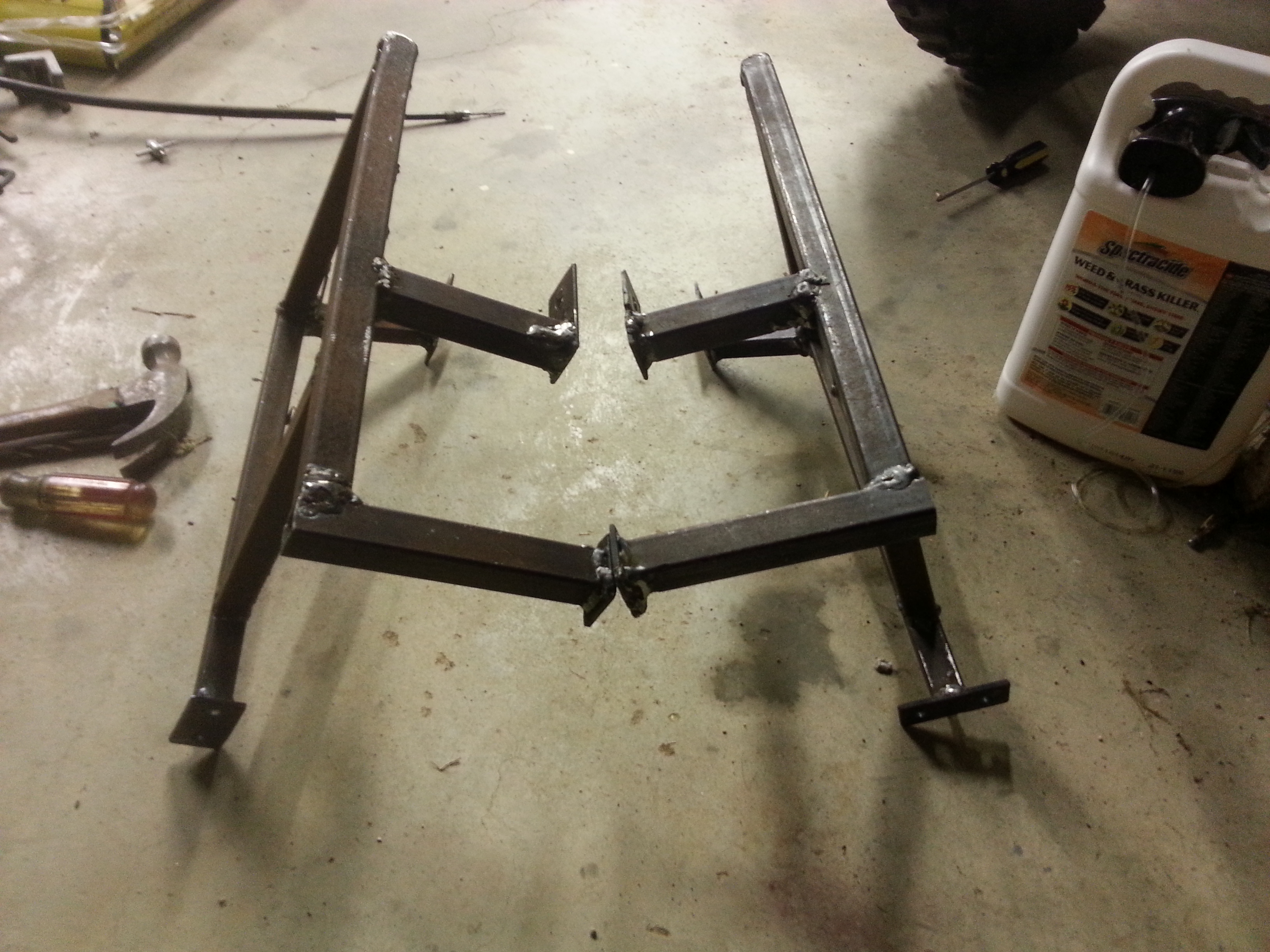 Left and right side racks before painting