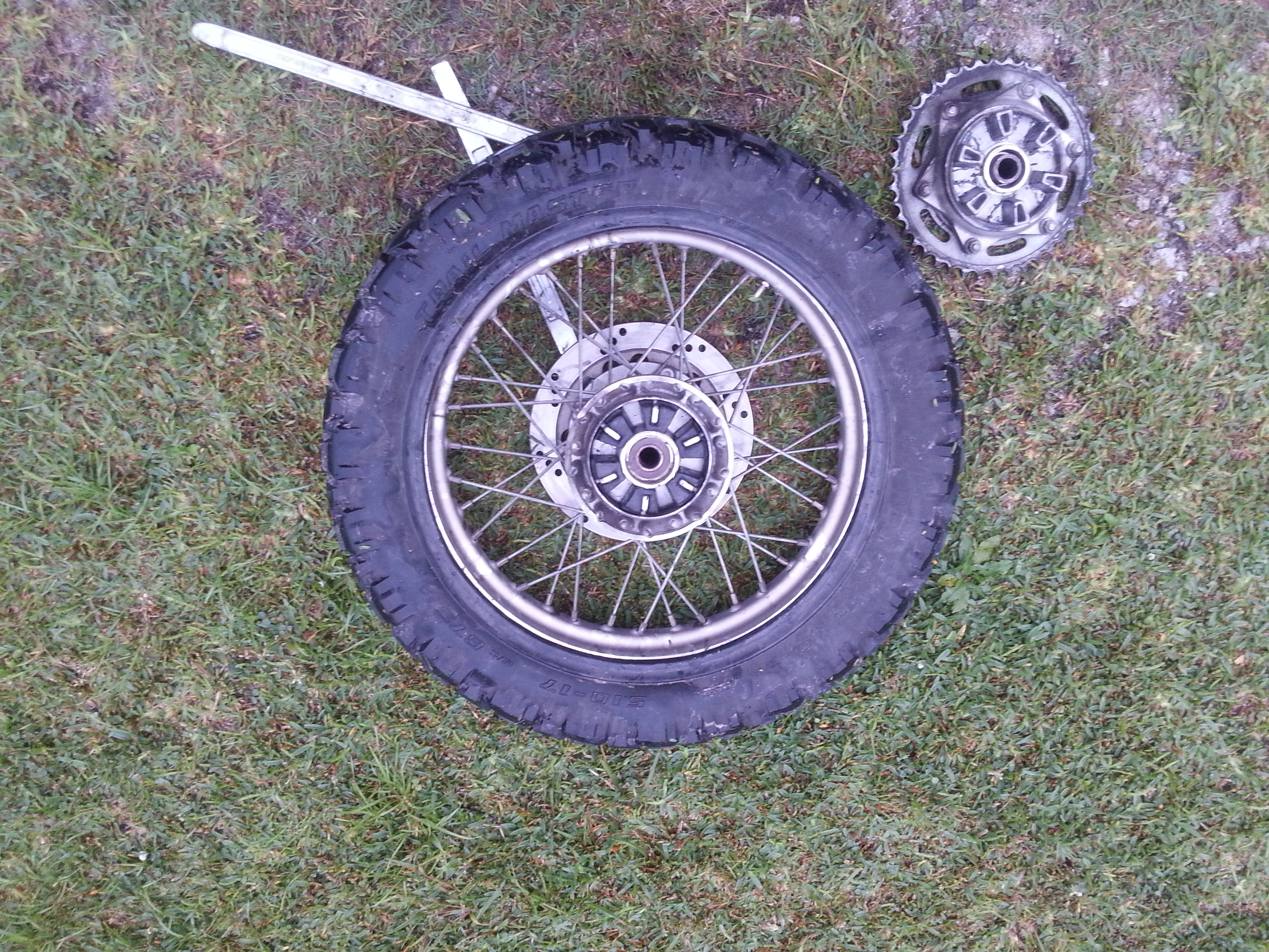 My rear wheel with the cush drive bushings in place