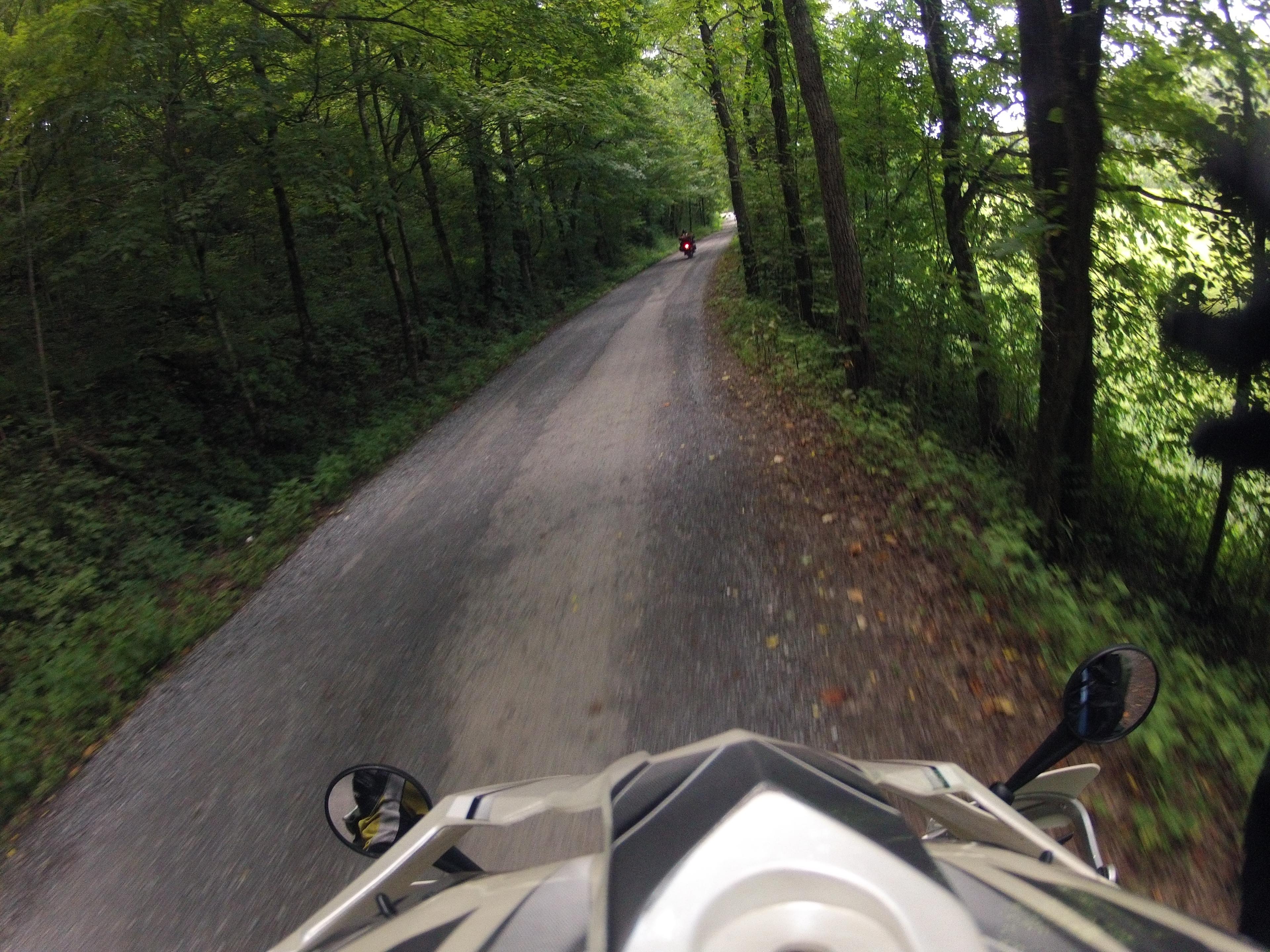 gopro of gravel road