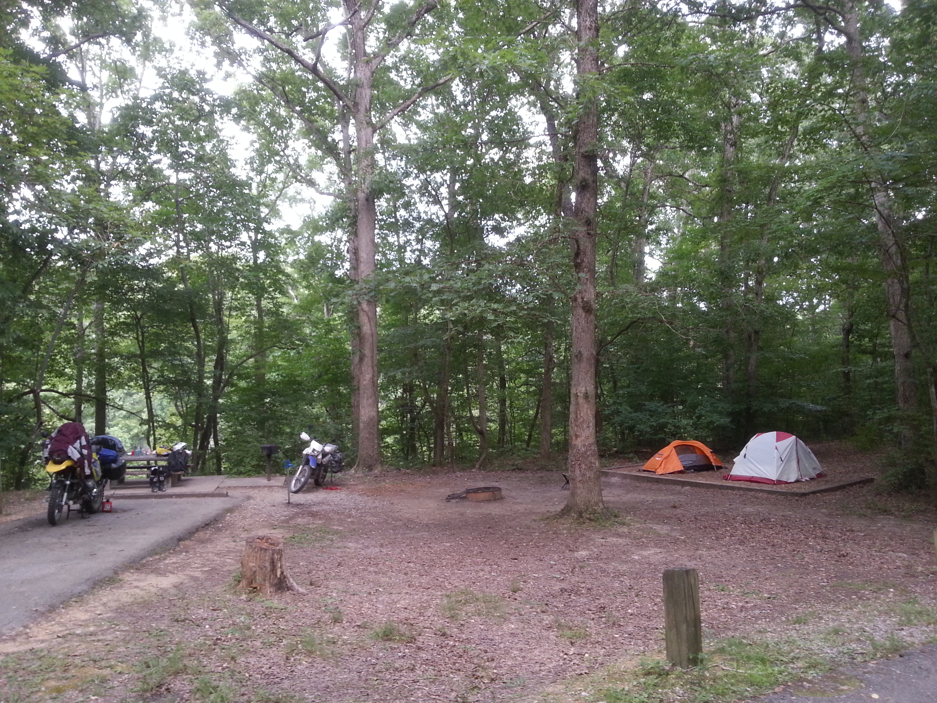 campground at Old Stone Fort State Park