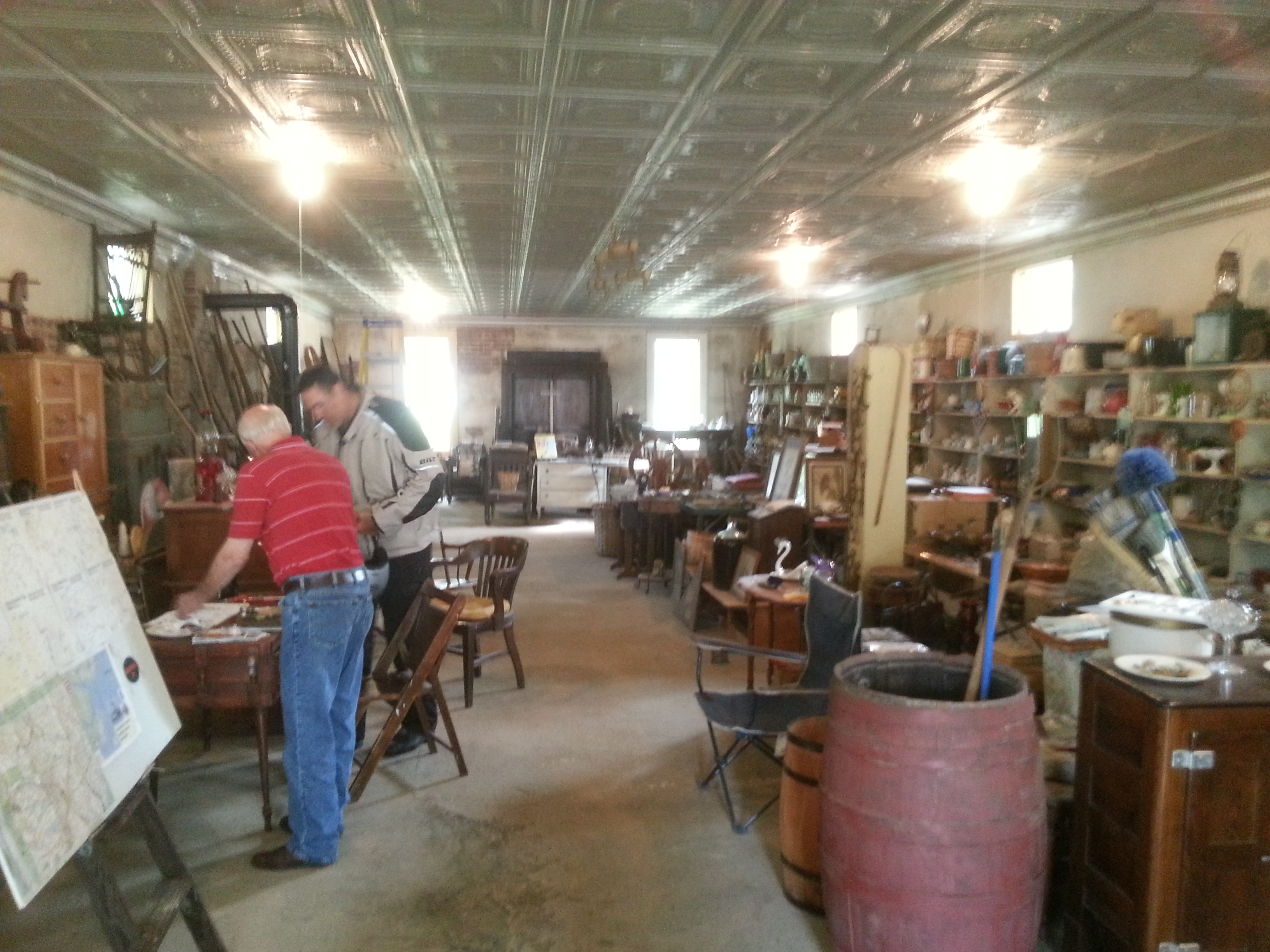 inside the TAT stop/antique store
