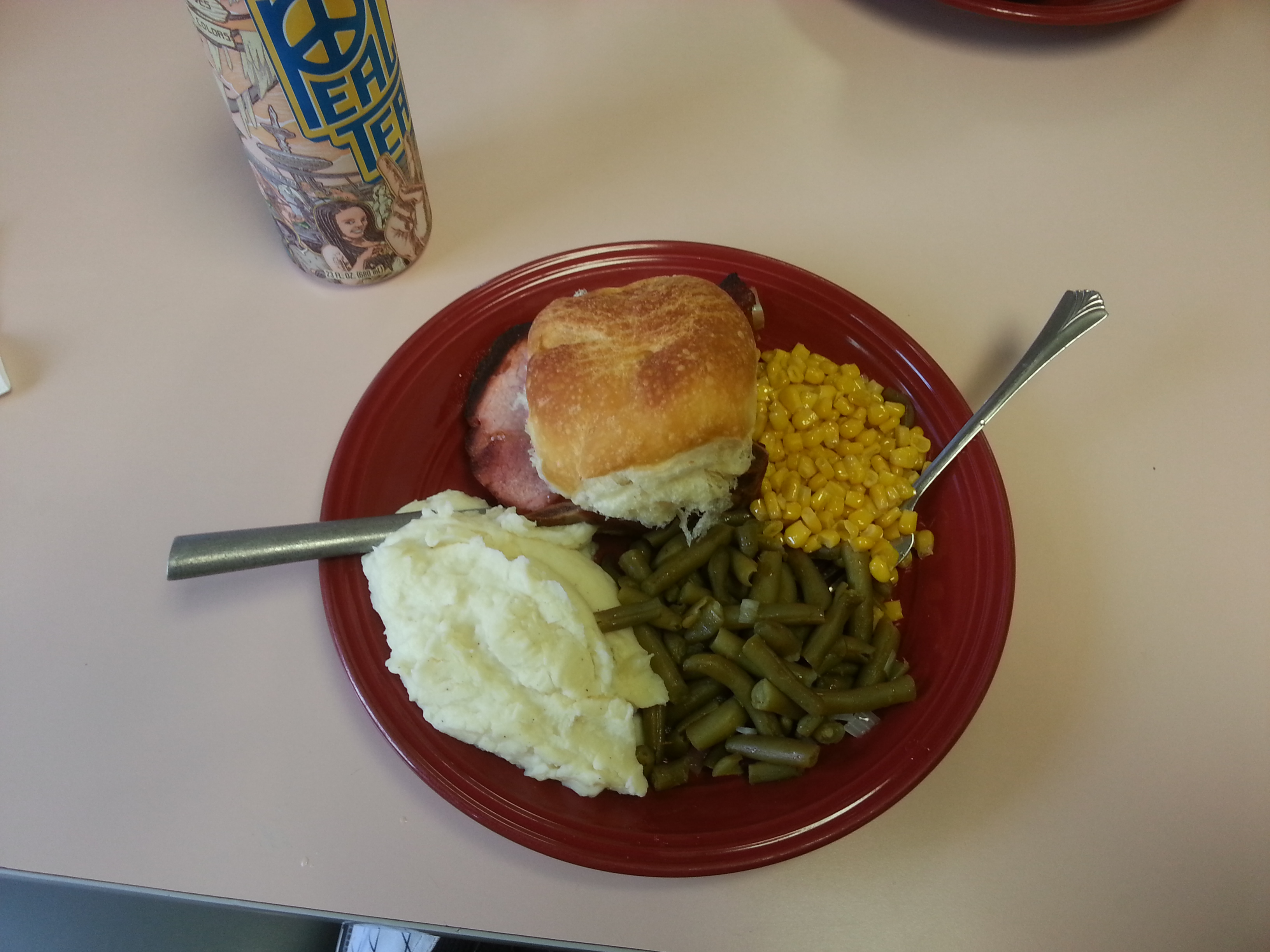 ham and vegetable lunch that hit the spot