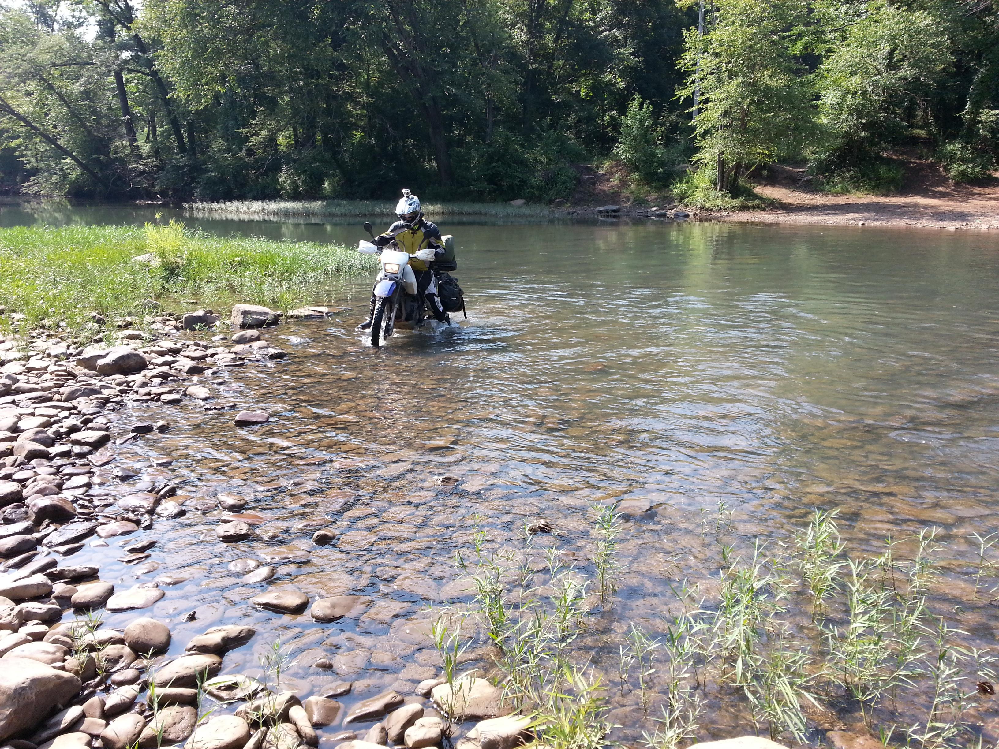 me crossing the creek