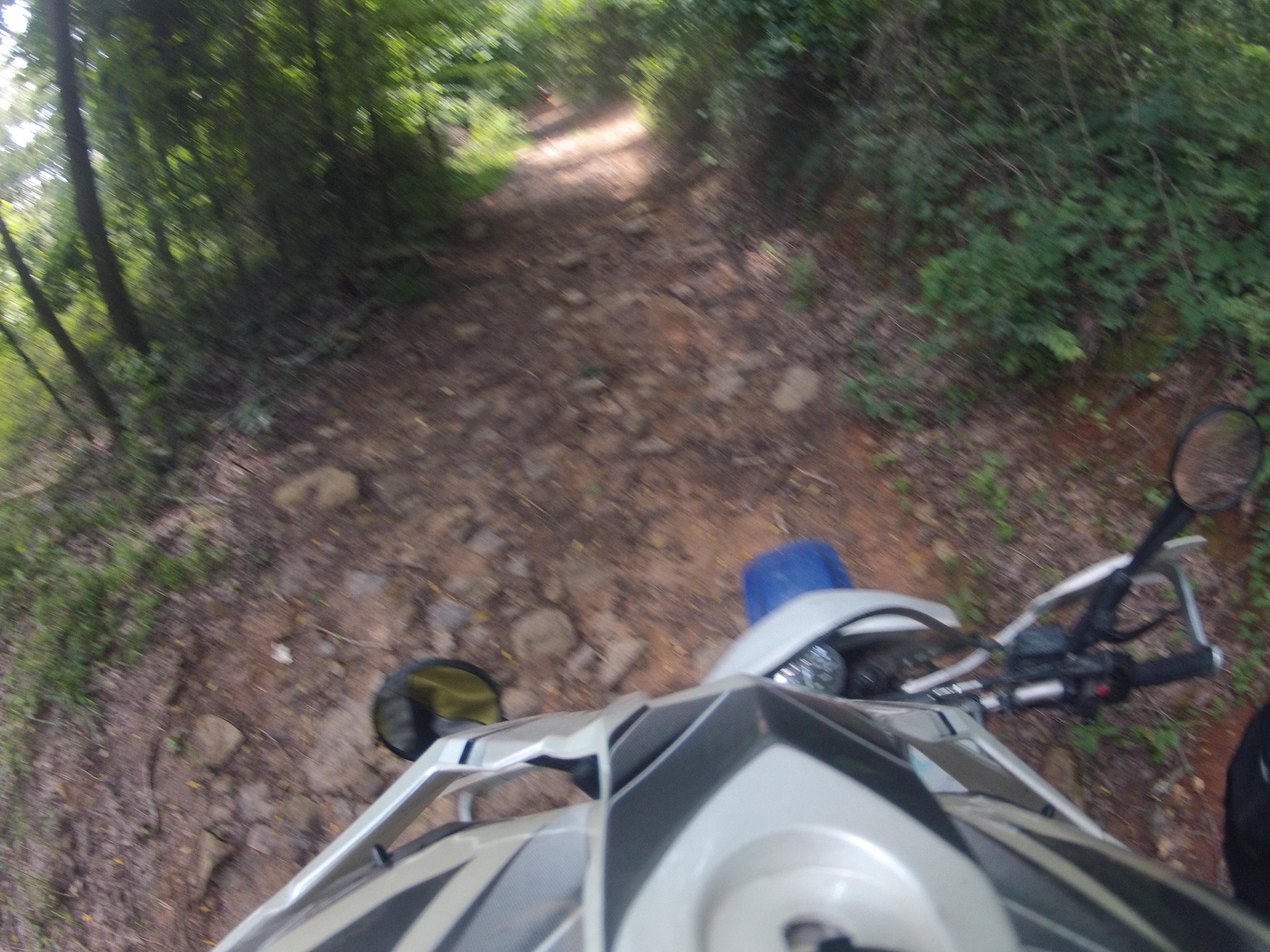 steep, rocky downhill