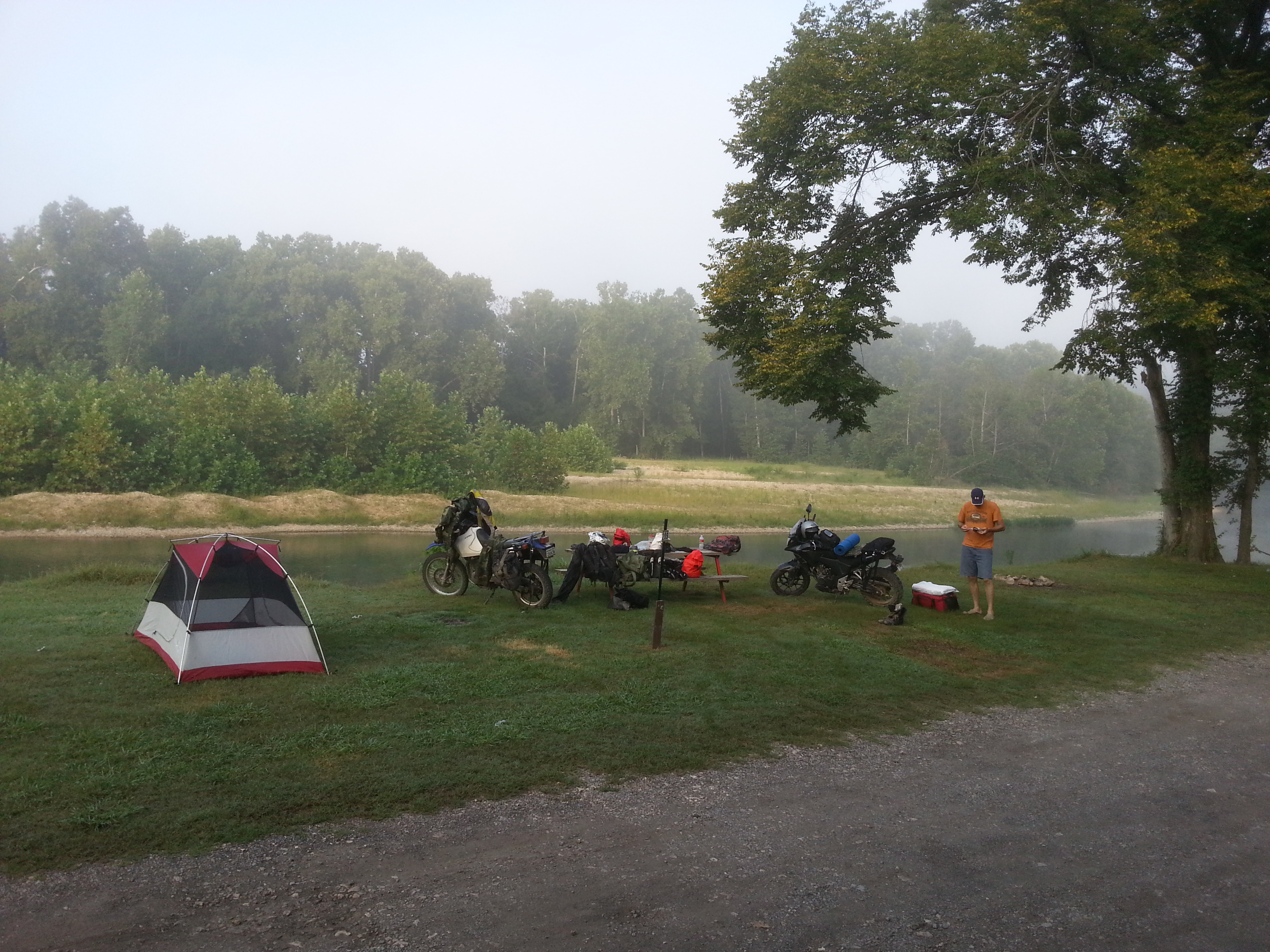 campsite on the river from 03AUG