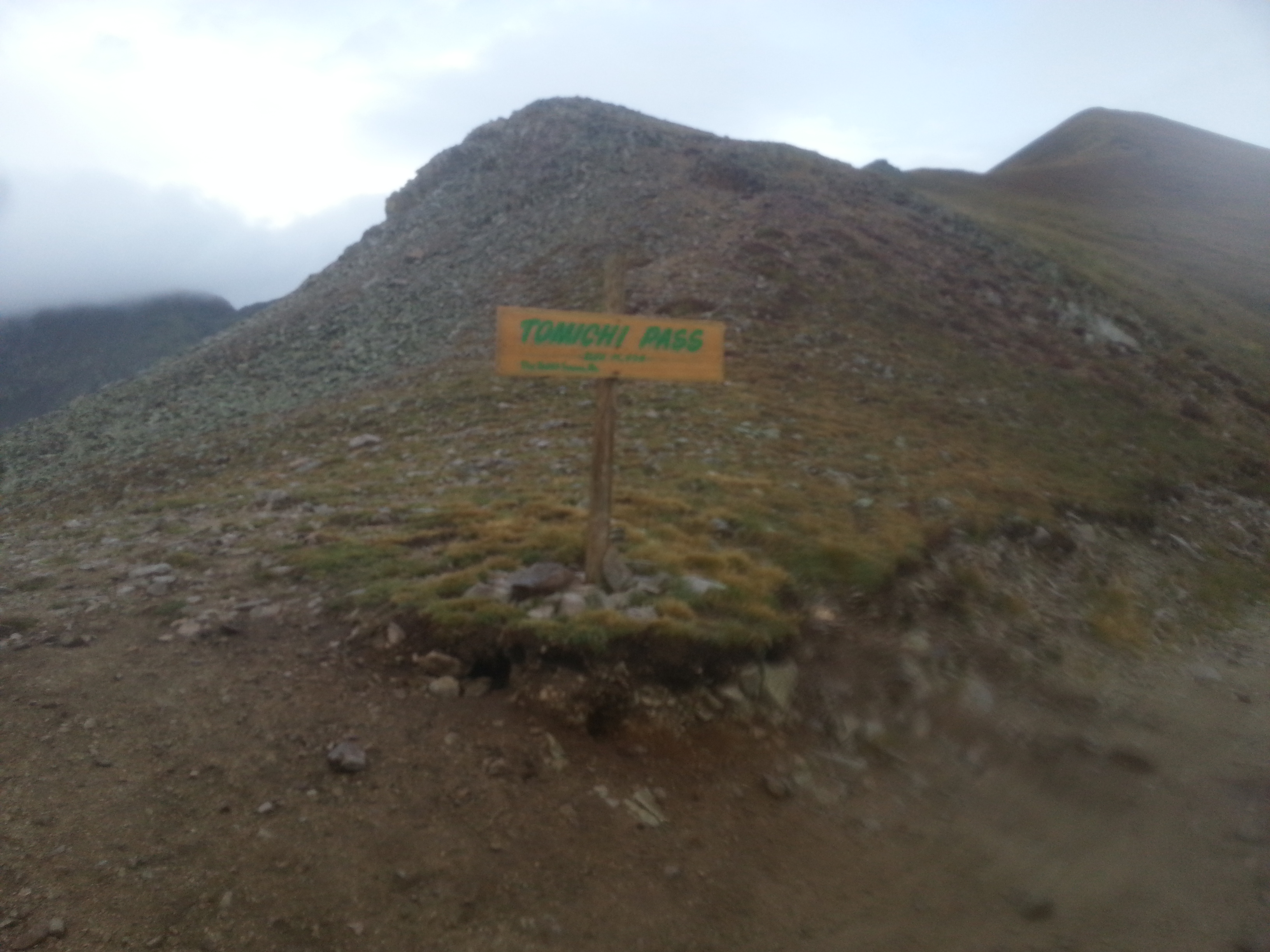 Tomichi Pass.  Kind of blurry, sorry.  It's like 11,800ft
