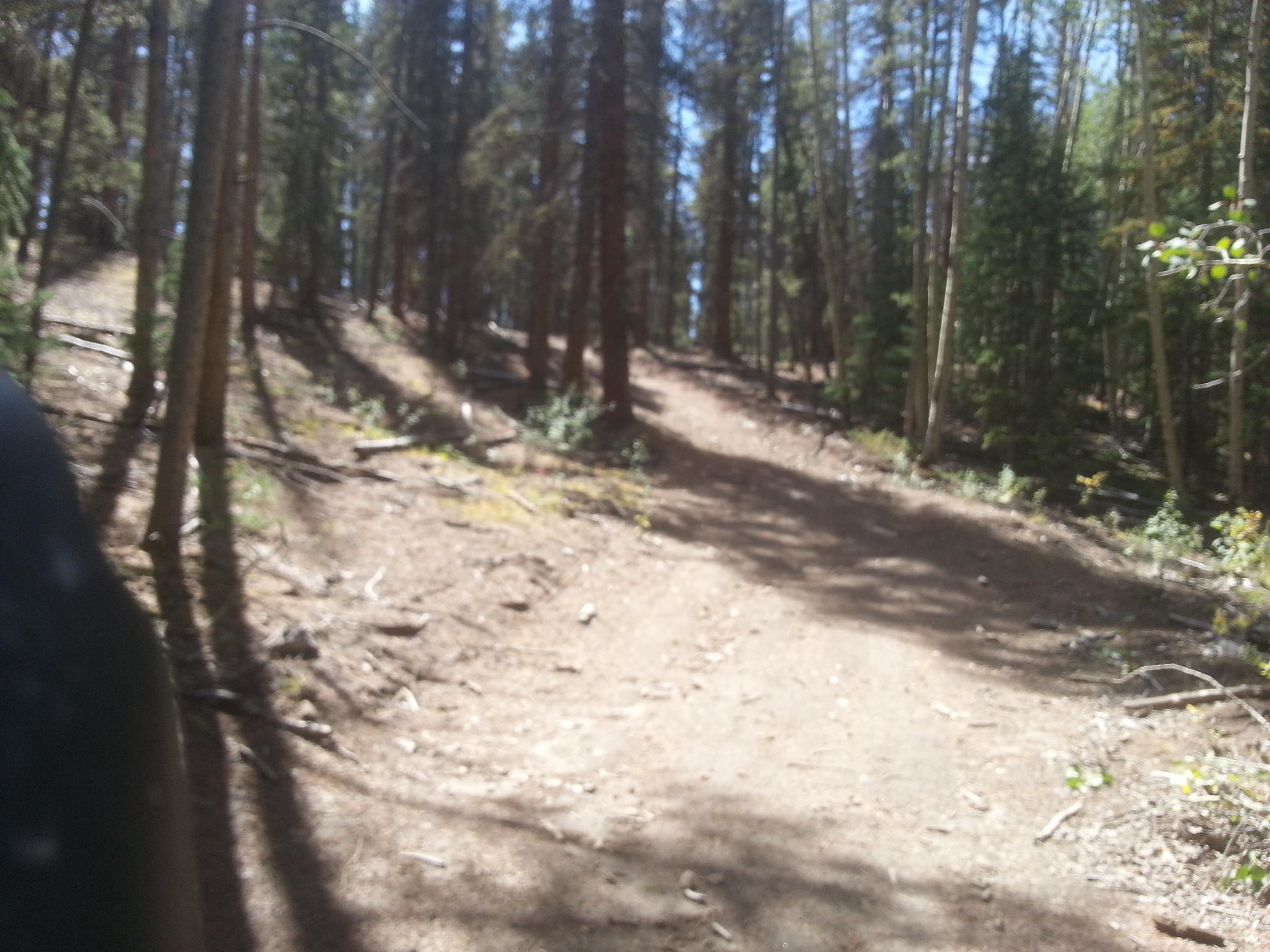 a few steeper sections