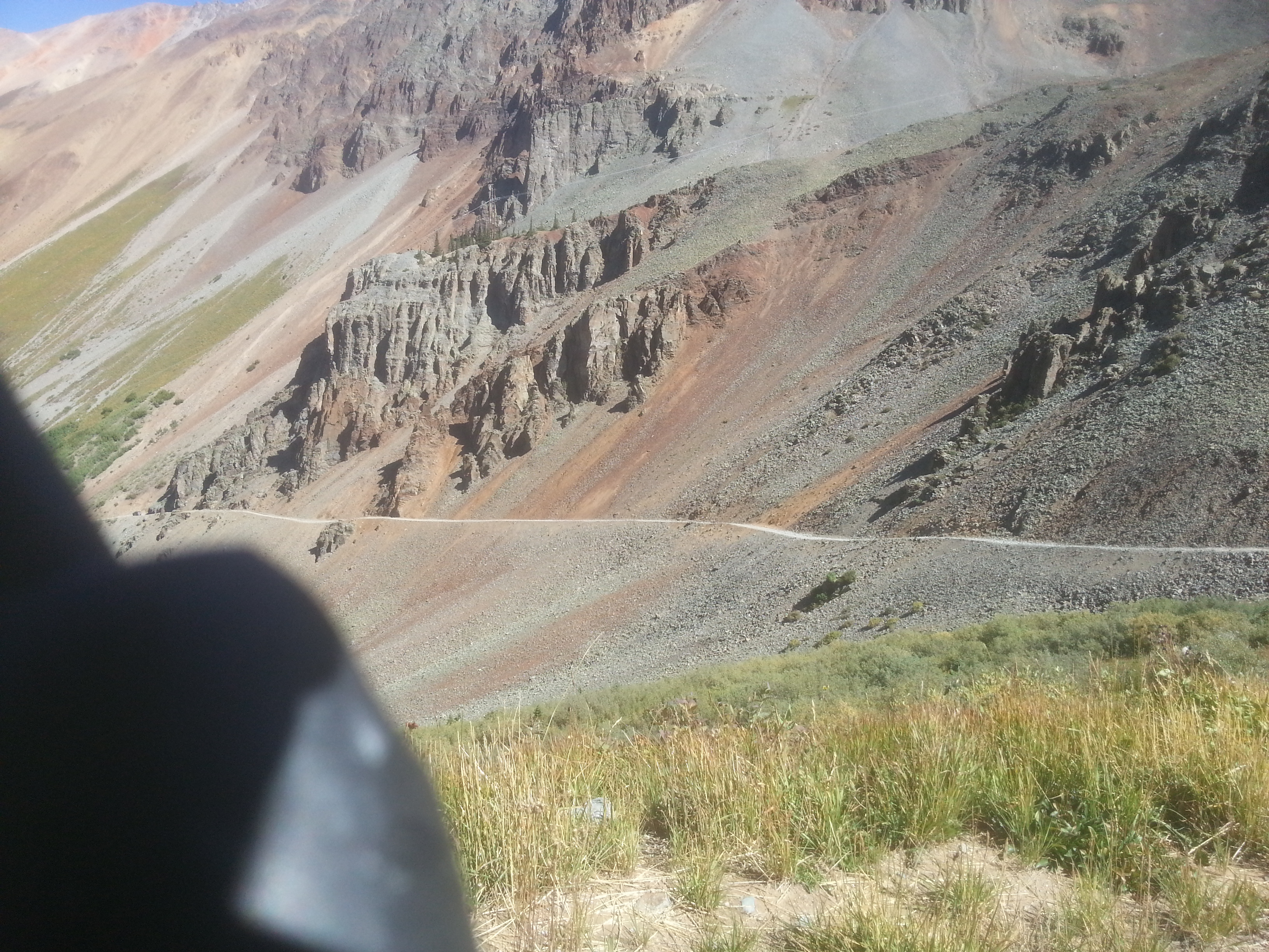 Somewhat scary road down off the backside of Ophir Pass