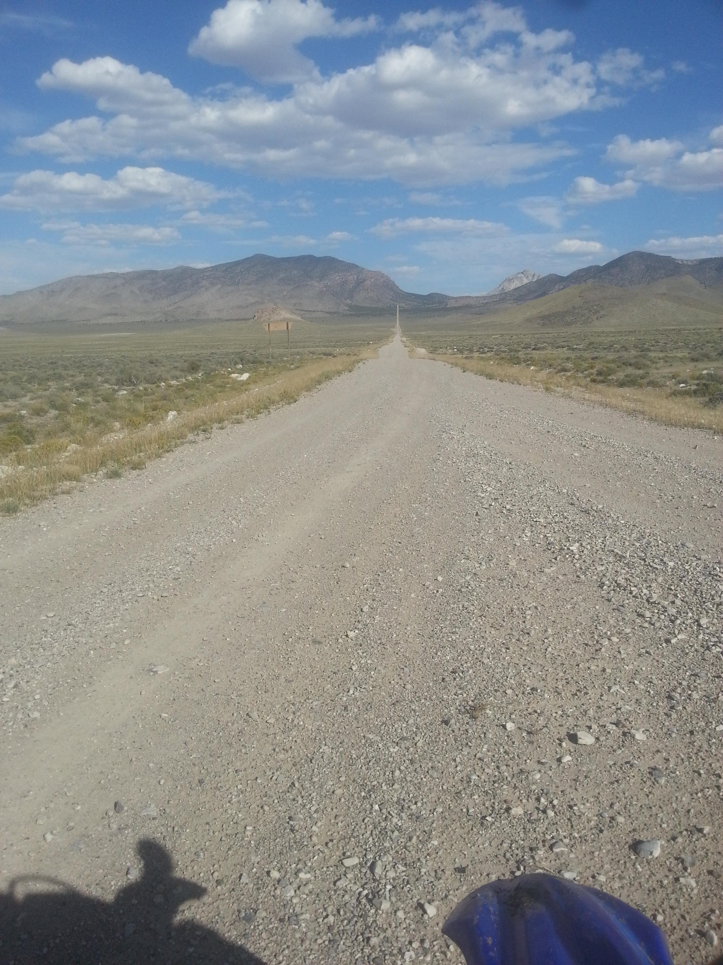long, straight, gravel road