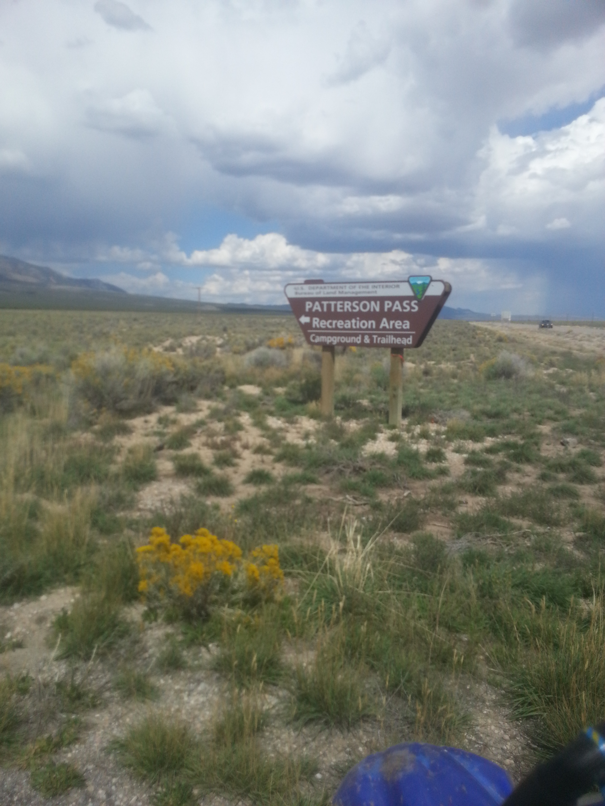 entrance to OHV area