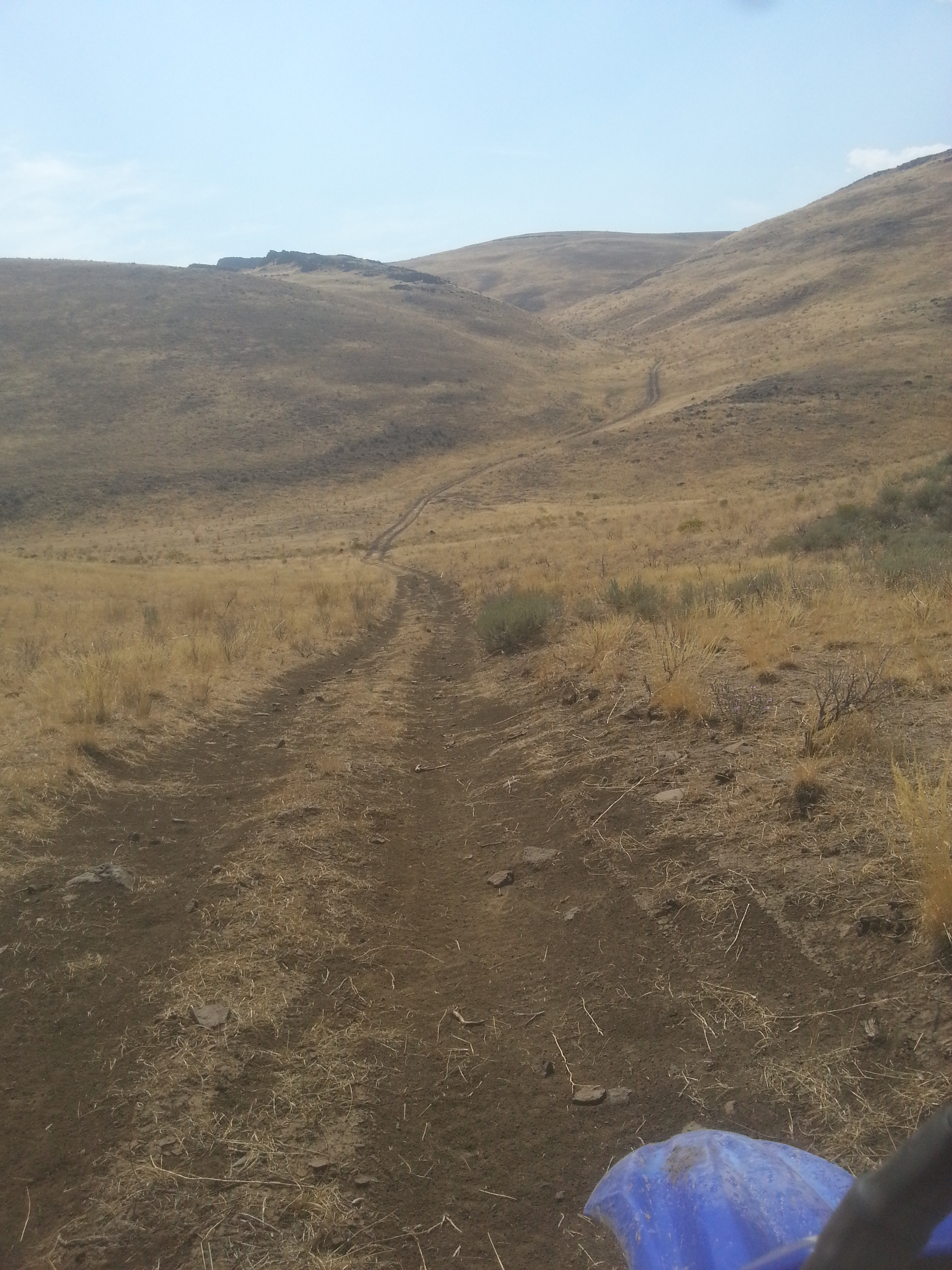 hard to tell, but steep downhill