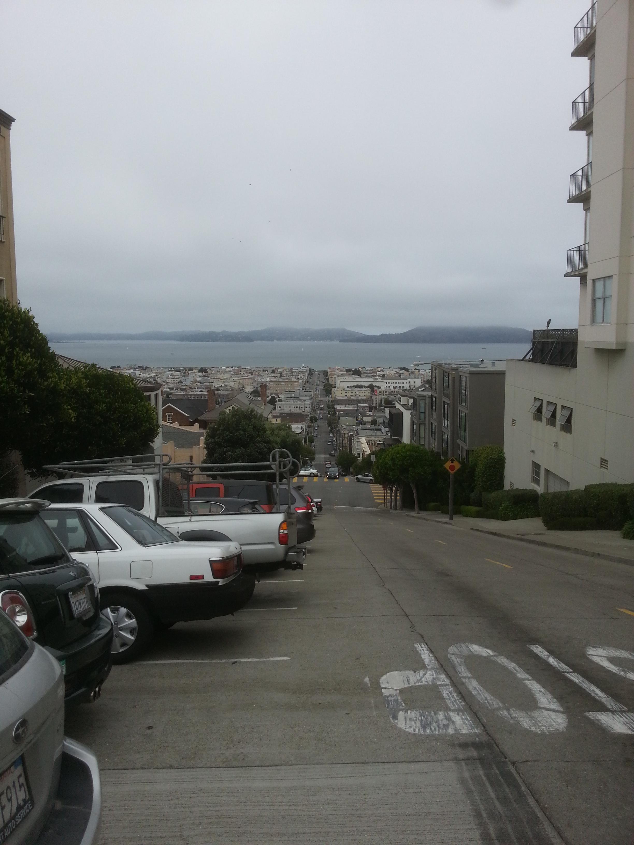 long, steep street